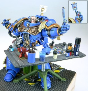Space Marine Painting Another Space Marine