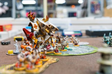The Menoth forces line up for battle